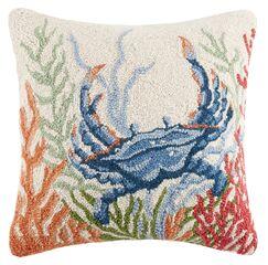 Sea Life Crab Hook Wool Throw Pillow