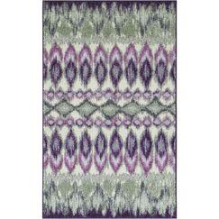 Hersey Purple Area Rug Rug Size: 2'6