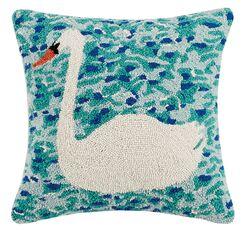 Fili Swan Lake Hook Wool Throw Pillow