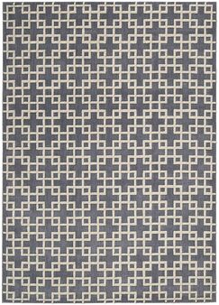 Hollywood Shimmer Times Square Gray/Tan Area Rug Rug Size: Rectangle 5'3