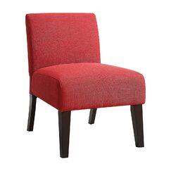 Gloucester Living Room Linen Slipper Chair Upholstery: Red