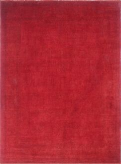 One-of-a-Kind Overdyed Mani Hand-Knotted Red Area Rug
