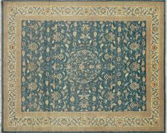 One-of-a-Kind Romona Hand-Knotted Teal Blue Area Rug