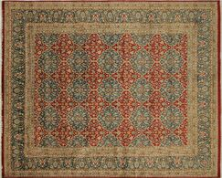 Ankara Kamal Hand Knotted Wool Red Area Rug Rug Size: Rectangle 8' x 9'10
