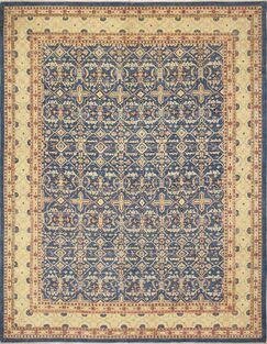 One-of-a-Kind Romona Faded Hand-Knotted Rectangle Blue Area Rug