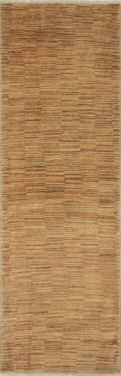 One-of-a-Kind Romona Hand-Knotted Runner Beige Area Rug
