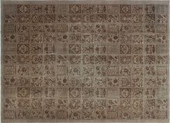 One-of-a-Kind Baynes Overdyed Distressed Hand-Knotted Brown Area Rug