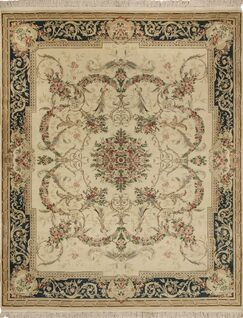 One-of-a-Kind Mickey Wool Ivory Area Rug