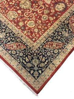 One-of-a-Kind Mickey Hand Knotted Wool Red/Blue Rug