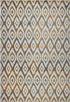 Azure White/Brown Area Rug Rug Size: 3'9