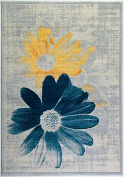 Criddle Flower Teal/Yellow Area Rug Rug Size: Rectangle 3'11