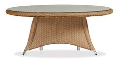 Generations Conversation Wicker Rattan Chat Table Finish: Antique White
