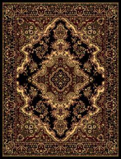 Oriental Classic Black/Beige Area Rug Rug Size: Runner 3' x 8'