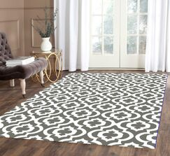 Weeden Rehash Hand-Tufted Gray/White Area Rug Rug Size: Rectangle 8' x 10'