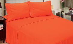 Quintal Sheet Set Size: Full, Color: Orange