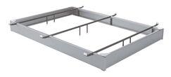 All Steel Bed Base Size: Queen, Color: Matte Aluminum