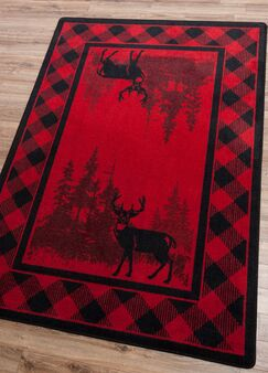 Cabarita Whitetail Plaid Red Area Rug Rug Size: Runner 2' x 8'