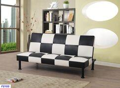 Moorhead Sleeper Sofa Upholstery: Black/White