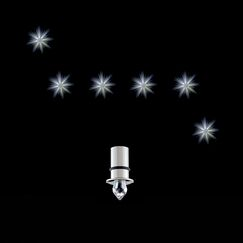 StarLED Anima 6 Crystals Close to Ceiling Low Bay Base Finish: Nickel, Bulb Type: Neutral White