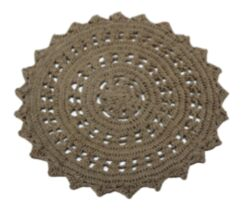 Tan Area Rug Rug Size: Round 9'