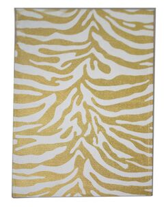 Zebra Dark Gold Area Rug Rug Size: 3' x 5'