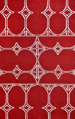 Fitchburg Red Indoor/Outdoor Area Rug Rug Size: 5' x 8'