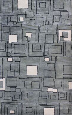 Ripon Grey Rug Rug Size: Rectangle 5' x 8'