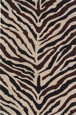 Penley Zebra Rug Rug Size: 4' x 6'