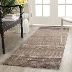Ximena Brown Area Rug Rug Size: Runner 2'6