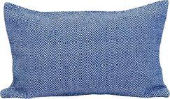 Blake 100% Cotton Lumbar Pillow Color: Indigo