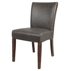 Yonkers Upholstered Dining Chair Color: Vintage Gray