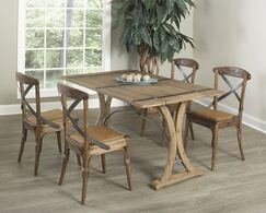 Cabana 5 Piece Solid Wood Dining Set