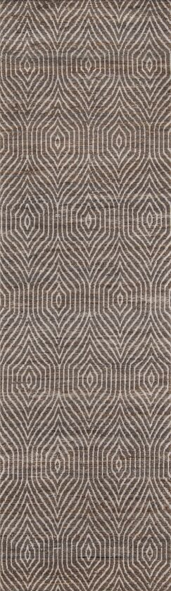 Blairstown Hand-Woven Charcoal Area Rug Rug Size: Runner 2'3