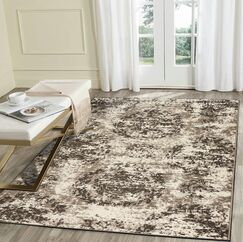 Luper Gray Area Rug Rug Size: Rectangle 7'9