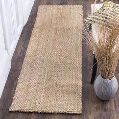 Addilyn Hand-Woven Natural Area Rug Rug Size: Runner 2'3