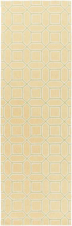 Brock Gold Geometric Area Rug Rug Size: Runner 2'6
