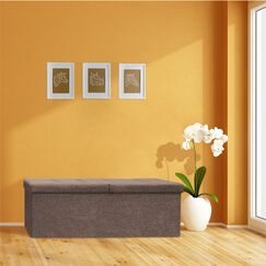 Earl Storage Ottoman Upholstery: Brown