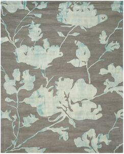 Danny Gray/Turquoise Area Rug Rug Size: Rectangle 8' x 10'