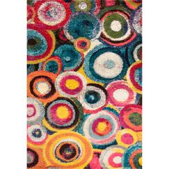 Meyer Red/Yellow/Blue Area Rug Rug Size: Rectangle 9' x 12'