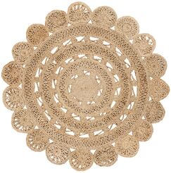 Salerna Hand-Woven Natural Area Rug Rug Size: Round 4'