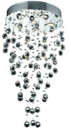 Deidamia 6-Light Flush Mount Crystal Grade: Elegant Cut
