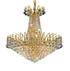 Phyllida 11-Light Empire Chandelier Finish: Gold, Crystal: Royal Cut