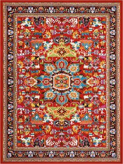 Cullens Red Area Rug Rug Size: Rectangle9'2