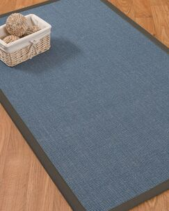 Ivy Border Hand-Woven Gray/Black Area Rug Rug Size: Rectangle 12' x 15', Rug Pad Included: Yes