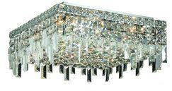 Bratton 6-Light 60W Semi Flush Mount Crystal Grade: Elegant Cut
