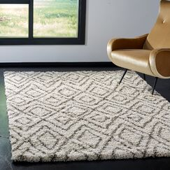 Lannie Ivory Area Rug Rug Size: Rectangle 6' x 9'