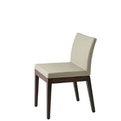 Heffington Upholstered Dining Chair Upholstery Color: Dark Gray, Leg Color: Wenge