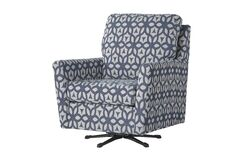 Wodome Swivel Armchair Upholstery: Forte Navy