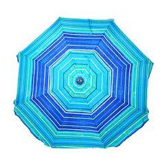 Rosson 9' Market Umbrella Fabric Color: Blue/Aqua