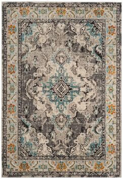 Annabel Grey & Silver Area Rug Rug Size: Rectangle 5'1
